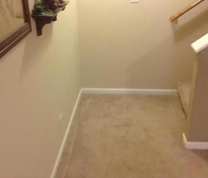 Water Damage – Dallas Residence Stairway After
