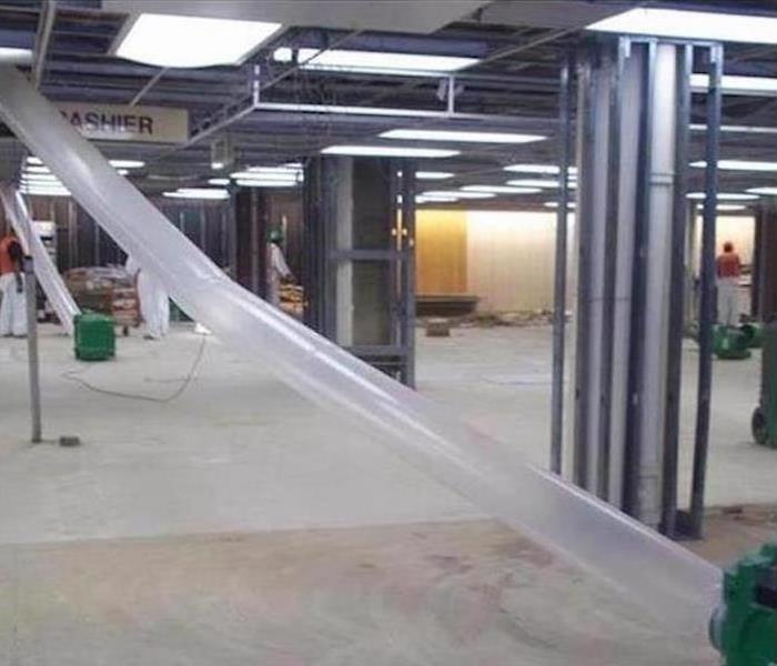 Commercial Water Damage – Dallas Retail Store After