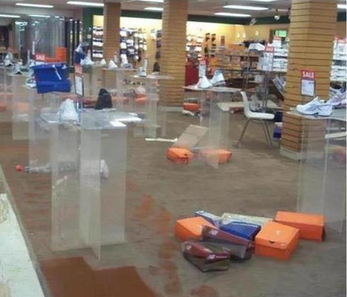 Commercial Water Damage – Dallas Retail Store Before
