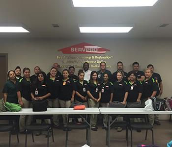 The SERVPRO of Southeast Dallas County Production Team