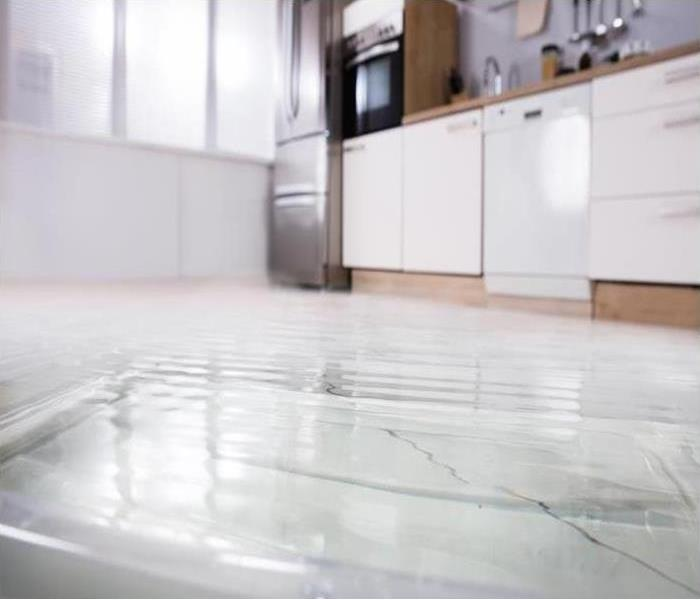 standing water on kitchen floor