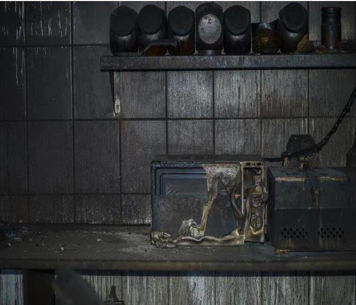 burned kitchen and counter top appliance