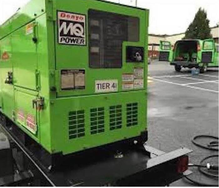 One of our commercial generators in a parking lot